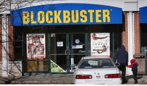 Photo of Blockbuster video store