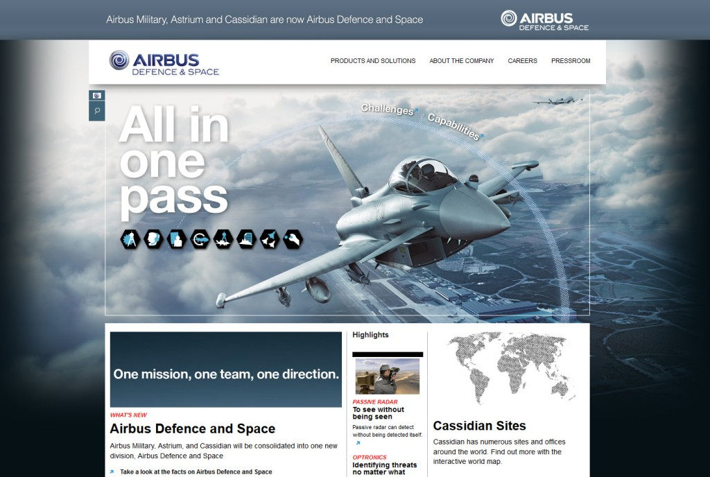 Airbus Defence and Space website