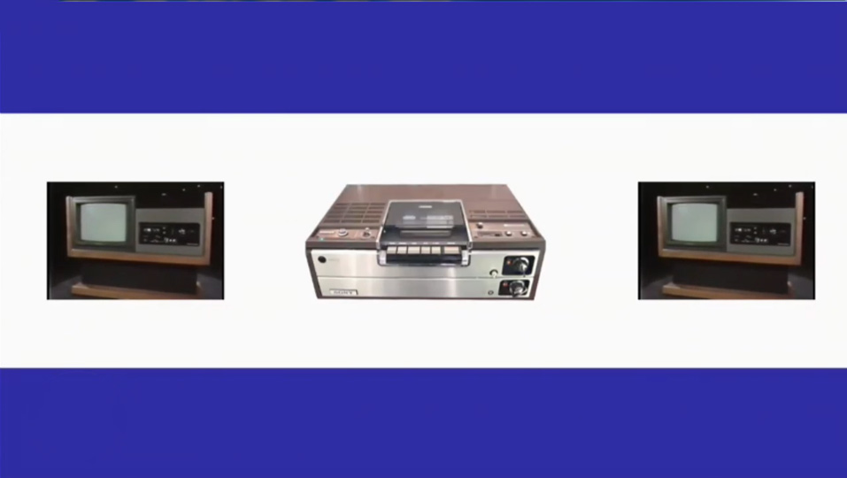 Slide showing Betamax