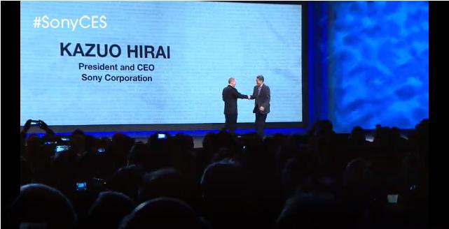 Photo of Gary Shapiro introducion Sony CEO