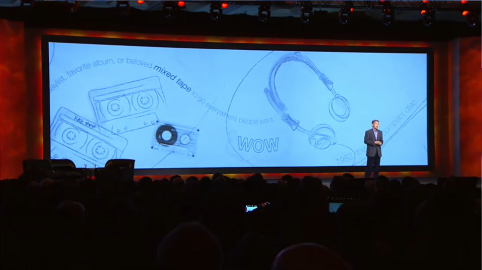 Sony presentation with background animation