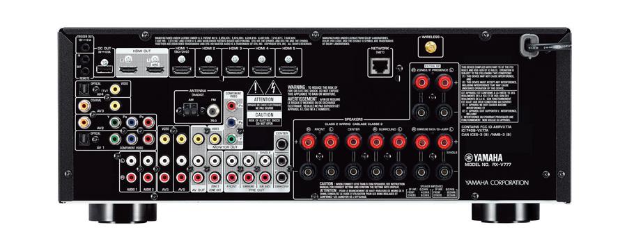 Photo of RX-V777BT back panel
