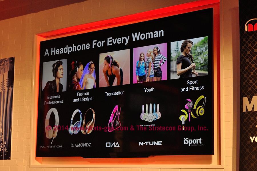 Photo showing Monster headphones for women