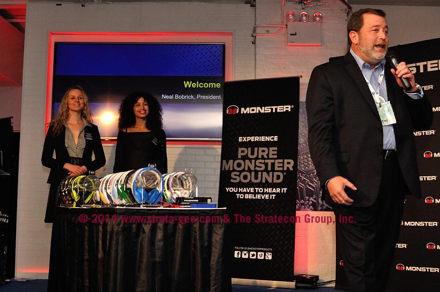 Photo of Monster President introducing Noel Lee