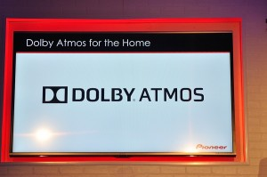 Pioneer slide showing Atmos logo
