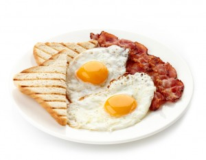 Photo of bacon and eggs