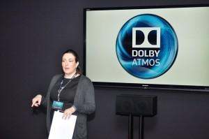 Photo inside Dolby demo room