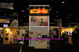 Photo of OmniMount booth at CEDIA Expo 2014
