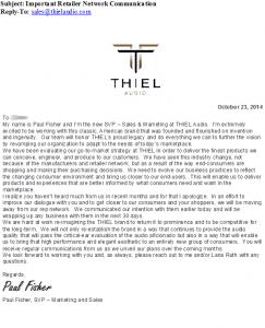 Thiel Rep Termination notice