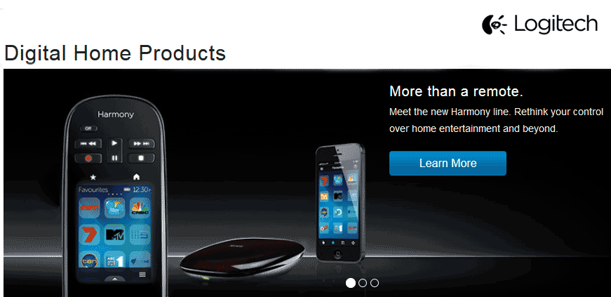 Logitech Harmony website