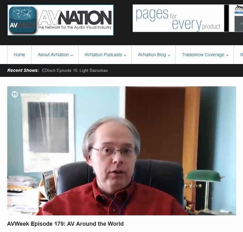 Photo from AVWeek taping