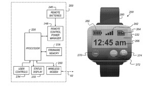 Drawing from Apple Watch patent