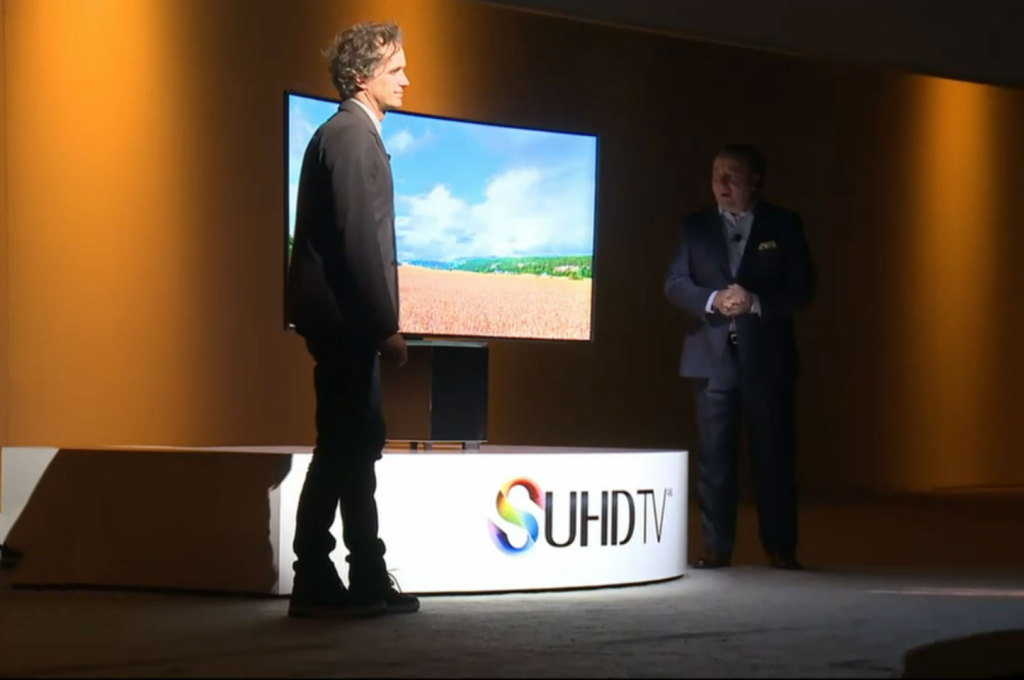 Another photo of Samsung's SUHD TVs