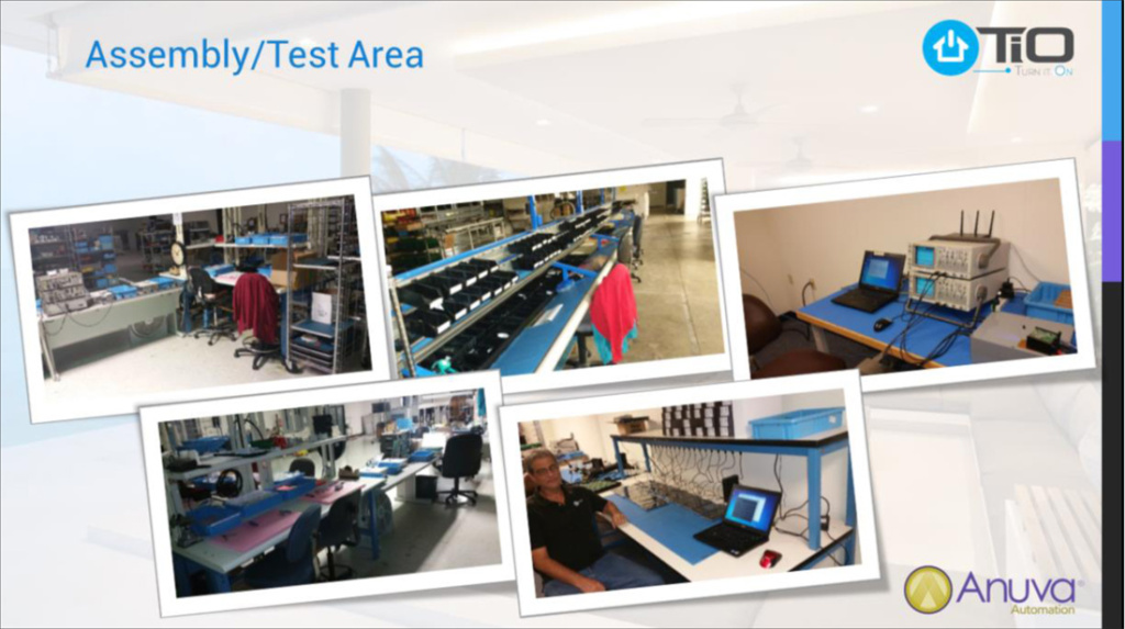 Photo of final assembly and product testing area