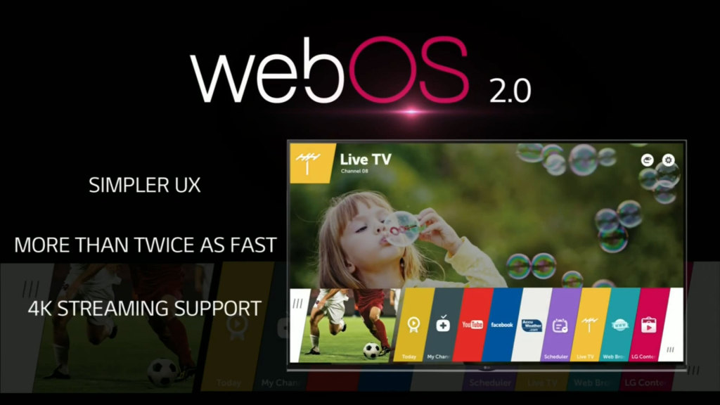 LG's newly updated WebOS