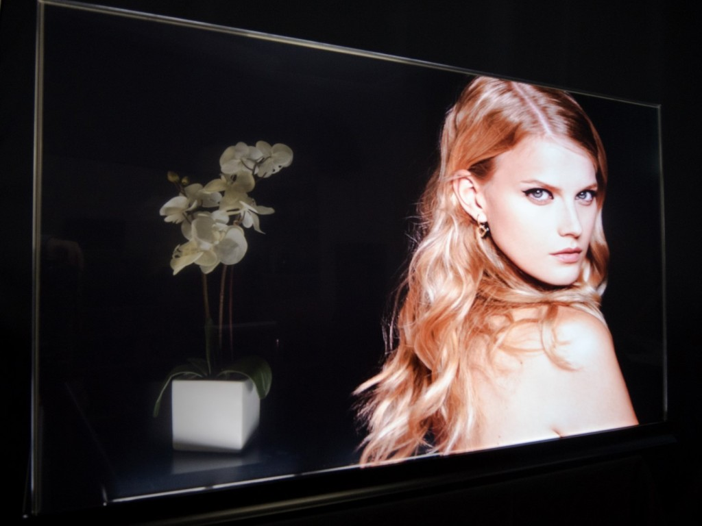 Planar's OLED transparent diplay, front view