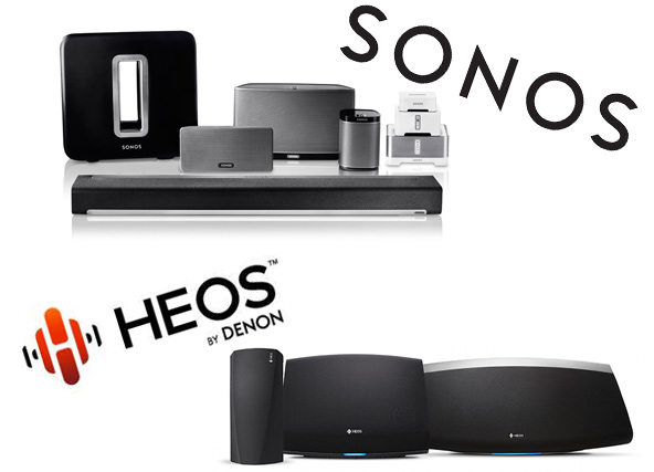 Photos of Sonos & HEOS products