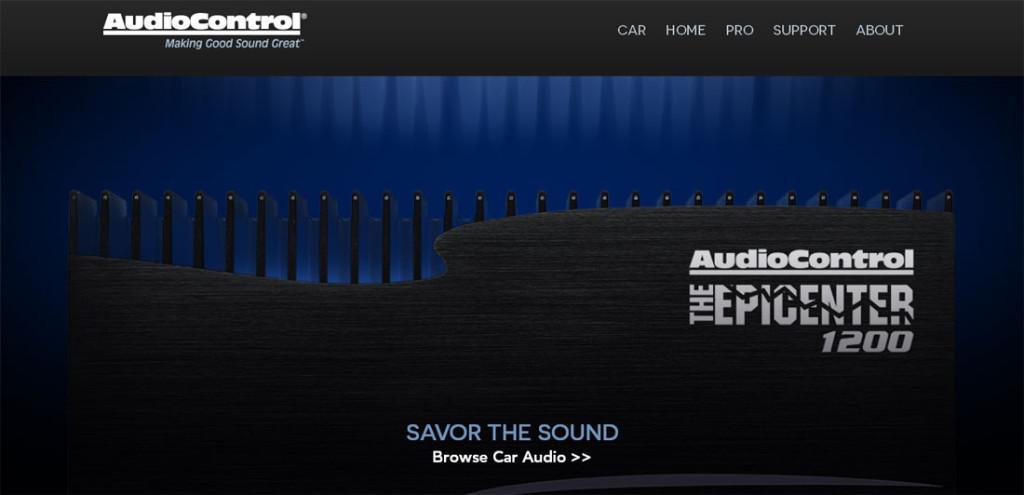 AudioControl website Car section