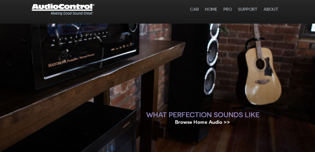 AudioControl website home section