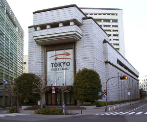 Exterior of the Tokyo Stock Exchange