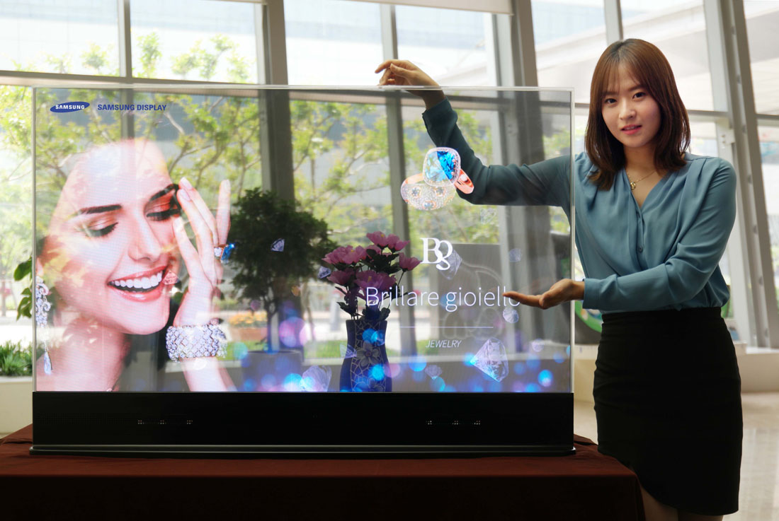 Photo of Samsung Display's new transparent display