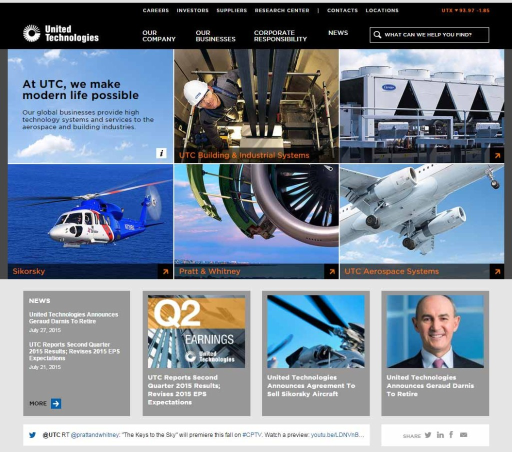 United Technology Home Page