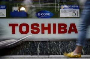 Toshiba sign