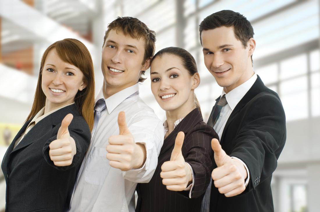 Photo of happy employees