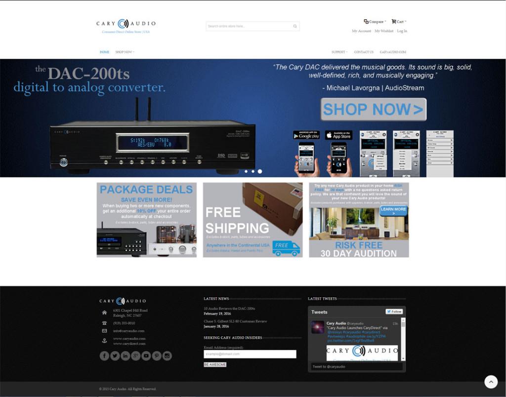 CaryDirect website