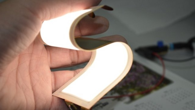 Flexible OLED lighting panel