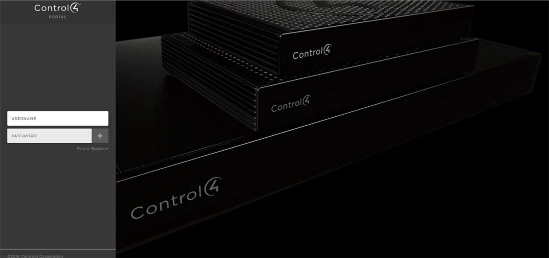 Control4 portal