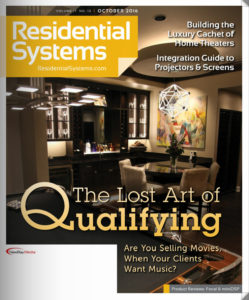 Cover of October Residential Systems Magazine