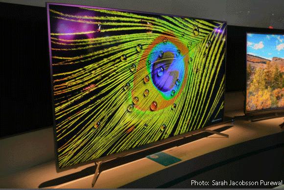 Photo of Hisense TV at CES 2017