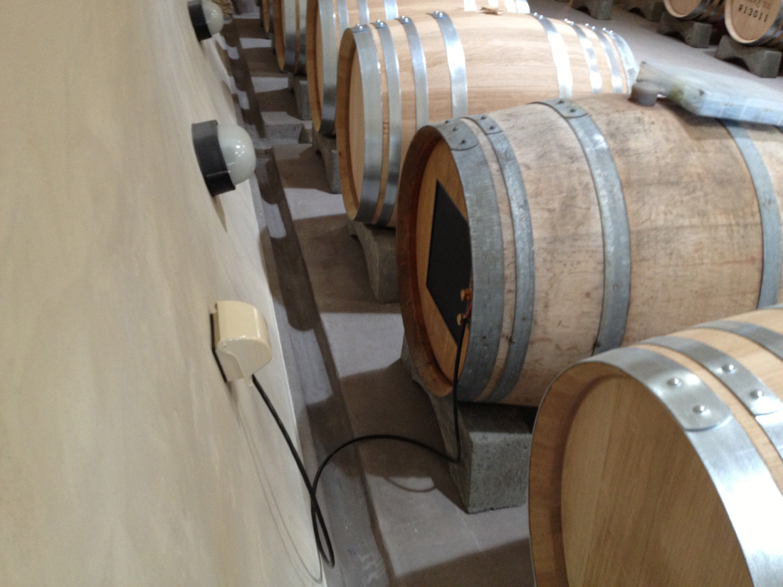 Photo of speaker in wine barrell