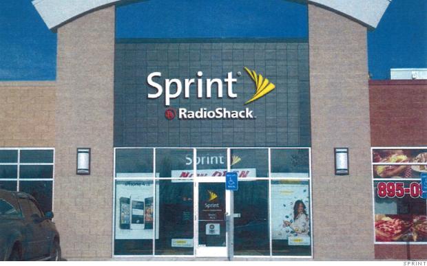 A Sprint Radio Shack store