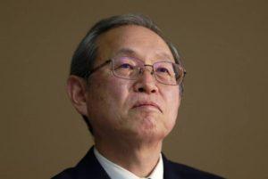 Photo of Toshiba president
