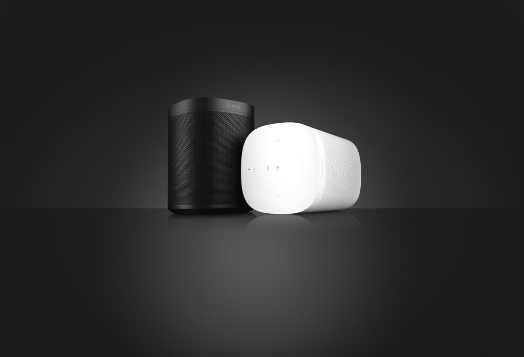 Photo of both finishes of Sonos One