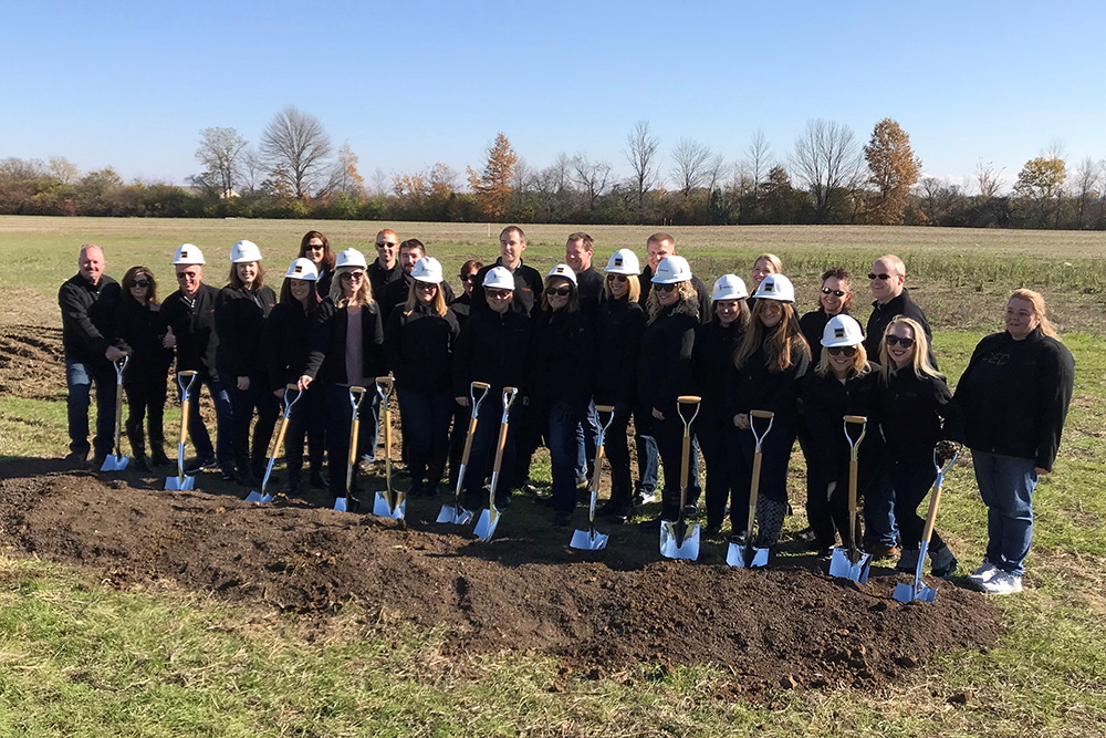 Ground breaking for new HQ