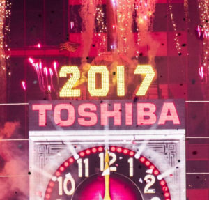 Top of Toshiba's Times Square display