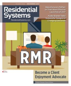 Cover of Residential Systems December issue