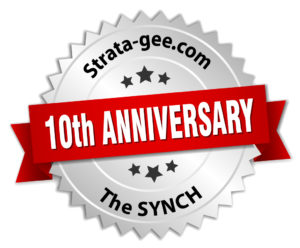 Strata-gee 10th Anniversary graphic