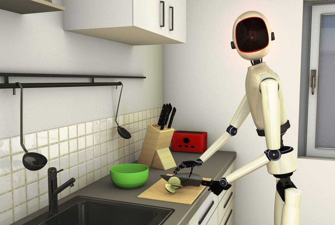 A housekeeping robot
