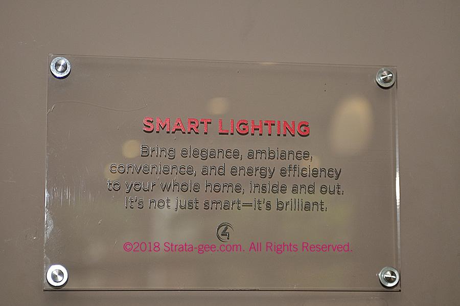 Control4 Smart Lighting sign