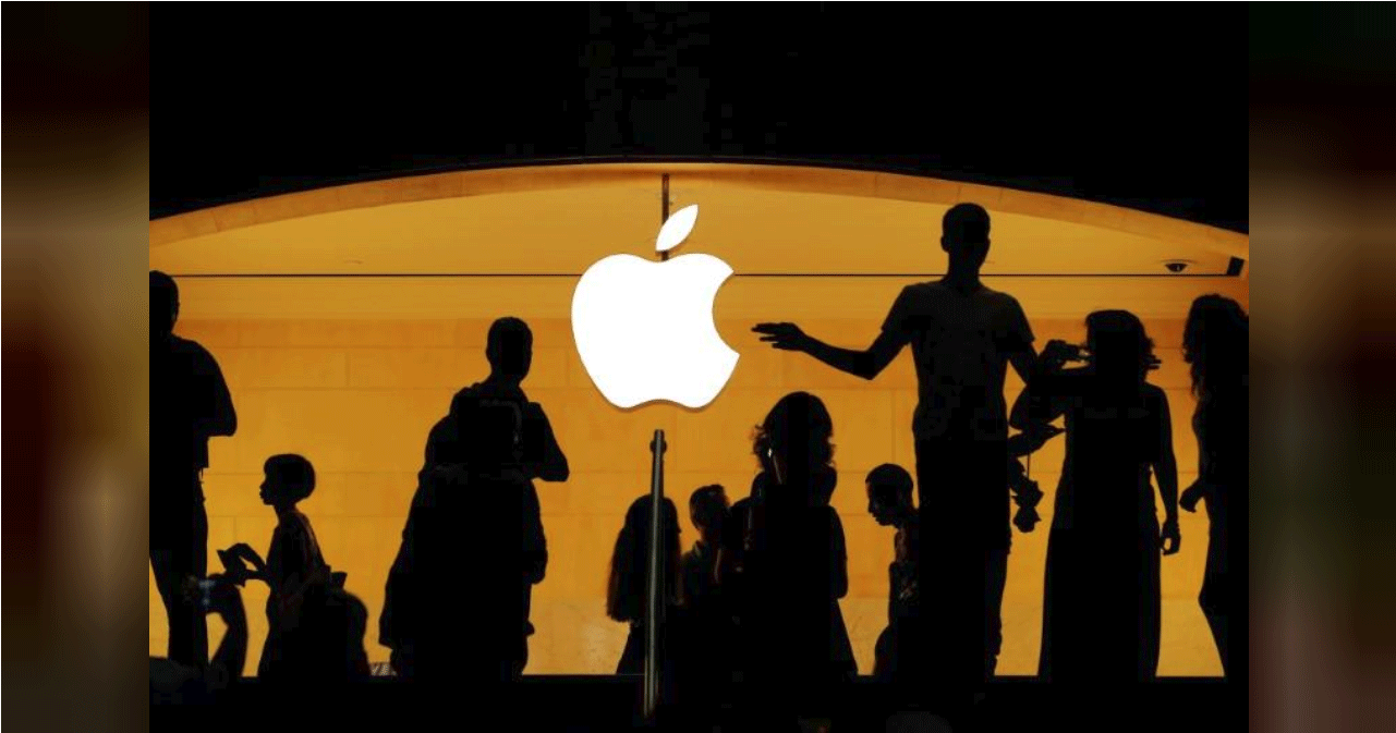 Photo of Apple store and logo