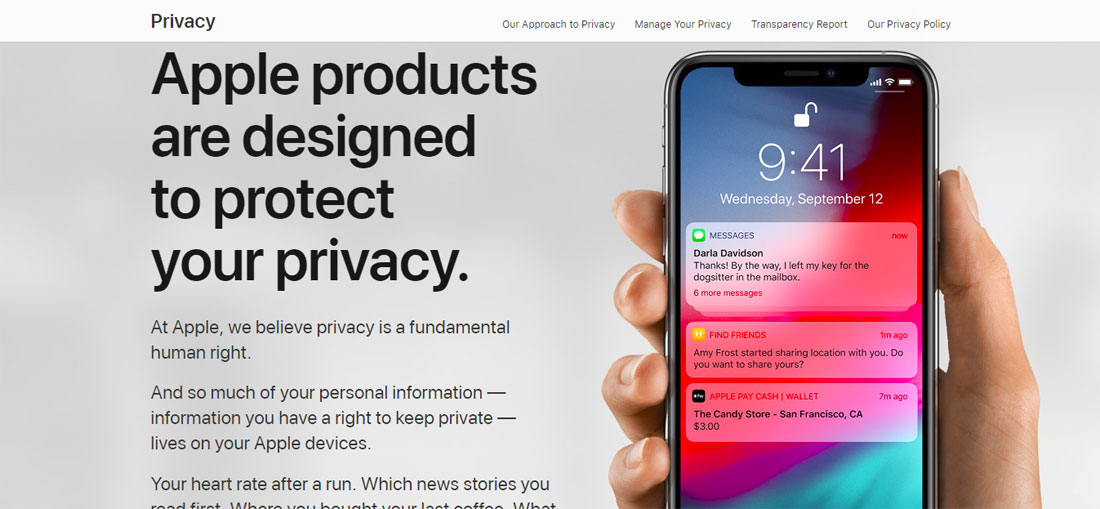 Image from Apple Privacy website