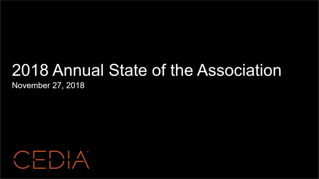 CEDIA State of the Association