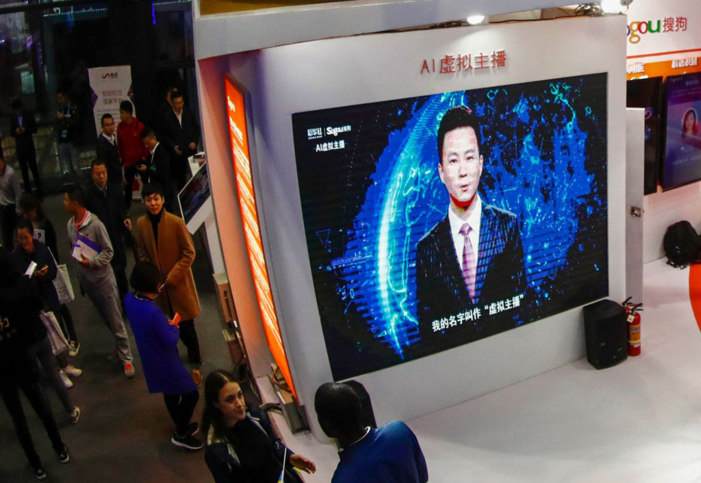 Chinese AI news anchors