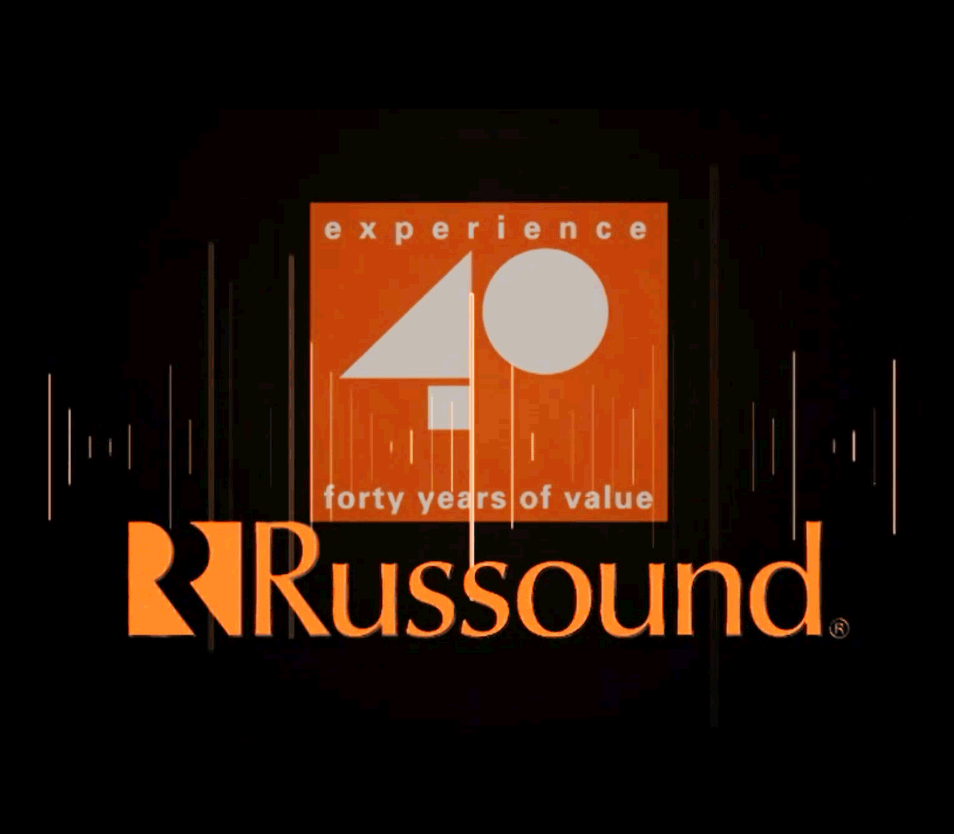 Title page to Russound 40th Anniversary video