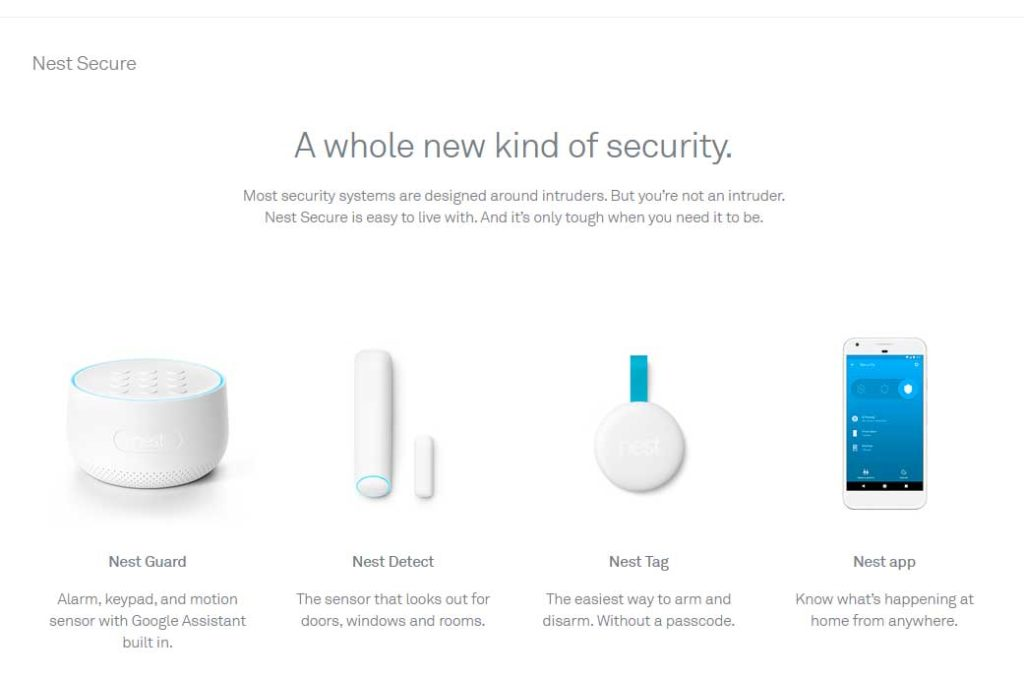 A photo of the Nest Secure home alarm system