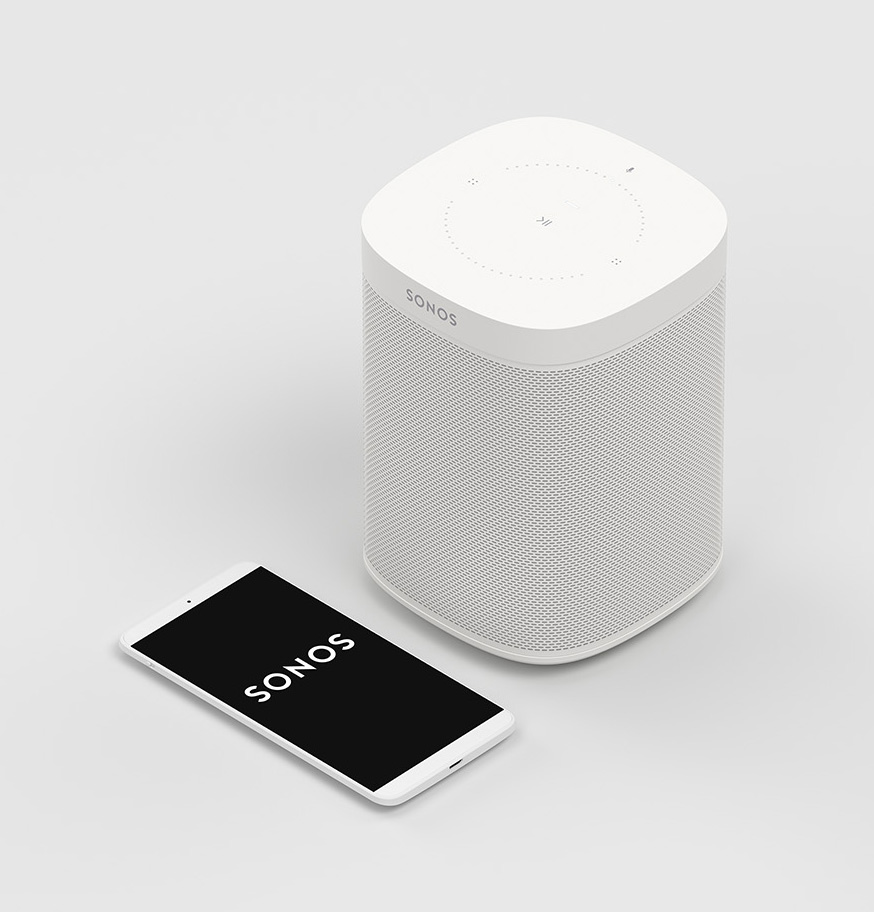 Photo of Sonos One in white finish